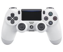 Mando inalámbrico oficial Dualshock 4 para Playstation 4,  color blanco, SONY.