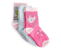 Lote de 3 pares de calcetines para niña MY LITTLE PONY, talla 35/38.