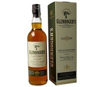 Whisky escocés single malt de 8 años GLENROGER´S botella de 70 cl.