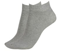 Pack de 2 pares de calcetines deportivos tobilleros invisibles IN EXTENSO, color gris, talla 43/46.