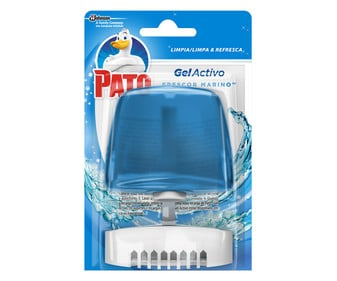 Colgador de WC gel azul PATO 55 ml.