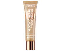 Base iluminadora con ingredientes de origen natural, tono 03 Medium L´ORÉAL Glow chérie.
