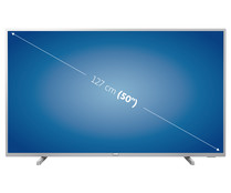 "Televisión 127 cm (50"") LED PHILIPS 50PUS6554/12 4K, HDR, SMART TV, WIFI, TDT T2, USB reproductor y grabador, 3HDMI, 1000HZ."