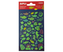 Pegatinas con relieve, figuras peces, APPLI