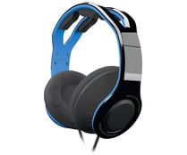 Auriculares gaming TX-30 color azul para PS4, con microfono interno y cable, GIOTECK.