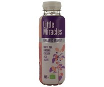 Bebida de té bio  blanco con ginseng y cereza LITTLE MIRACLES 33 cl.