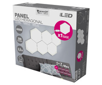 Panel led hexagonal 3,5w 93mm SEVENON