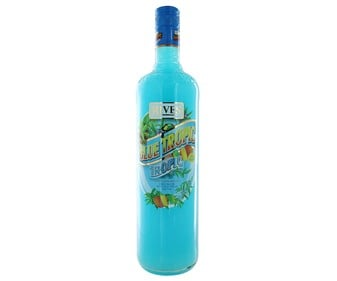 Bebida refrescante de frutas RIVES BLUE TROPIC botella de 1 l.