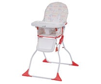 Trona regulable, plegable, cierre tijera, color rojo y blanco, SAFETY FIRST.