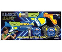 Pack 2 Pistolas lazer mad advance battle ops para dos jugadores, SILVERLIT.