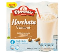 Horchata natural granizada MERCADER 4 x 200 ml.