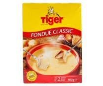 Queso suizo fondue natural TIGER 12 uds. 400 g.