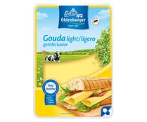 Queso lonchas Gouda light OLDENBURGUER 200 g.