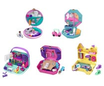 Diferentes mundos de bolsillo temáticos de Polly Pocket con muchas sorpresas. POLLY POCKET