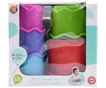 Cubos de colores apilables con formas, ONE TWO FUN ALCAMPO.