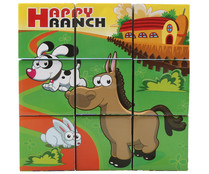 Puzzle rompecabezas con 9 cubos, ONE TWO FUN ALCAMPO.