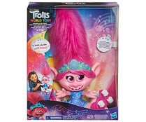 Muñeca Poppy Dancing Hair interctiva, World Tour TROLLS.