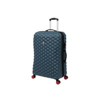 Maleta grande con 8 ruedas ABS color azul de 80cm expandible con cierre TSA, IT LUGGAGE.