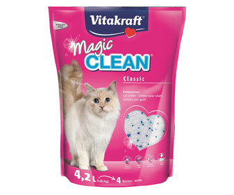 arena de sílice para gatos VITAKRAFT MAGIC CLEAN 4,2 l. 1,85 kg.
