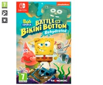 Bob Esponja: Battle for Bikini Bottom Rehydrated para Nintendo Switch. Género: plataformas, acción. PEGI: +7.