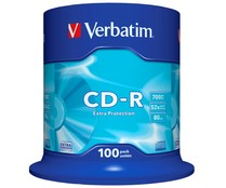 Tarrina de 100 CD-R Datalife 700MB 52X VERBATIM.