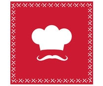 "Servilletas de papel decoradas ""red cook"", 3 capas, 40x40cm., ACTUEL."