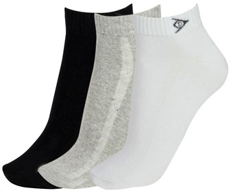 Pack de 3 pares de calcetines DUNLOP Performance, color blanco/gris/negro, talla 43/46.