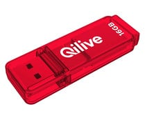 Memoria USB 16GB QILIVE Q.8391, Usb 2.0, color rojo.
