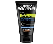 Gel exfoliante anti-puntos negros L´ORÉAL MEN EXPERT Pure charcoal 100 ml