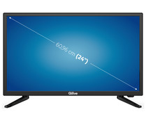"Televisión 62,23 cm (24,5"") LED QILIVE Q24-984B HD READY, TDT HD, USB reproductor, 1HDMI, 50HZ."