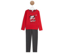 Pijama largo para niña DISNEY Minnie Mouse, talla 10.