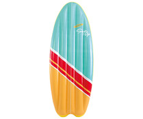 Colchoneta hinchable con forma de tabla de surf, 178x69cm. INTEX.