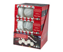 Cadena con 10 bolas decorativas de color blanco, con 20 led en su interior, PARTY LIGHTING.