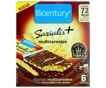 Barritas multicereales chocolate con leche SARALIS 93 gr,