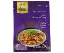 Salsa de curry korma ASIAN HOME GOURMET 50 grs