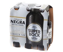 Cerveza negra sin alcohol SUPER BOCK pack 6 botella 25 cl.