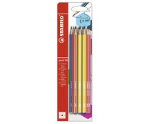 Pack de 12 lápices de grafito surtido en colores, 16HB, punta de 2.2mm. STABILO.