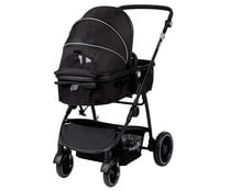 Coche polivalente desde 0 meses hasta 22kg, cubre pie + burbuja, color negro, SAFETY FIRST DUO CROSSY.