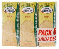 Nectar de piña DON SIMON pack 6 x 20 ml.