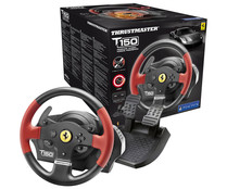 Volante T150 Ferrari son sistema Wheel Force Feedback , compatible con PS4, PS3 y PC, THRUSTMASTER.