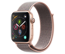 Smartwatch APPLE Watch Series 4 MU6G2TY/A, GPS, caja de aluminio de 44mm., oro con correa deportiva Loop rosa arena.