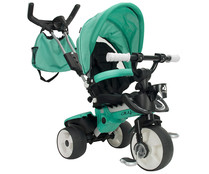 Triciclo evolutivo infantil City max, color verde, INJUSA.