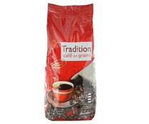 Café natural en grano tradition AUCHAN 1 kilogramo