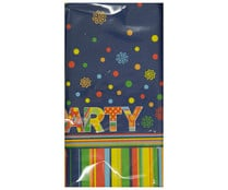 Mantel rectangular de papel lacado desechable diseño Party, 120x180 centímetros PAPSTAR.