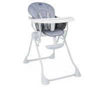 Trona regulable en 3 posiciones, color gris, CHICCO Pocket Meal.