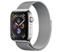 Smartwatch APPLE Watch Series 4 MTX12TY/A, GPS + Cellular, caja de acero inoxidable 44mm., plata con pulsera Milanese Loop.
