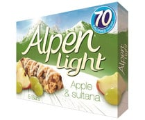 Barrita de cereales ALPEN LIGHT barrita de 19 gr. pack de 5 unidades
