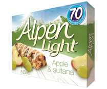 Cereales en barrita ALPEN LIGHT barrita de 19 gr. pack de 5 unidades
