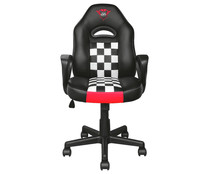Silla gaming TRUST GXT Junior, ajustables, respaldo reclinable, base con 5 ruedas.