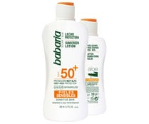 Leche protectora FPS 50 + After sun  BABARIA.